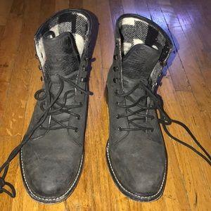 Woolrich grey combat boots